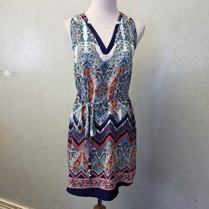 Renee C Sydnie Paisley floral V-neck Dress (Z-4)
